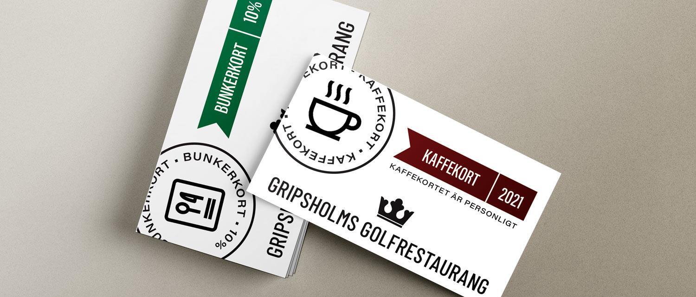 Erbjudande kaffekort och bunkerkort